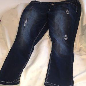 Maurice's distress skinny jeans size XXL
